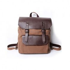 $32.18 Casual Stylish Men's Backpack With Splicing and Buckle Design