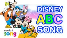 ABC Song For Chilren With Disney Cartoon | Nursery Rhymes For Children