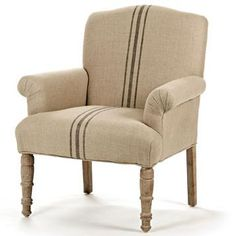 European Grain Sacks Influenced The Statement Stripes On The Rana Club Chair.  Resources: Http