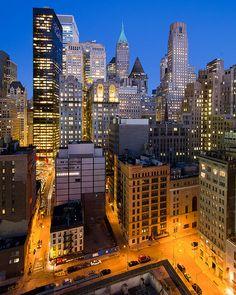 Lower Manhattan in Blue & Orange