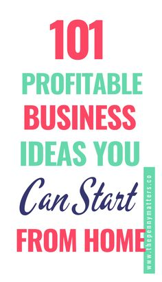 Are you looking for ways to make money online? Here are 101 ideas that will help you get started. These include a variety of ideas including blogging, freelancing, and much more profitable ideas. So whether you're just starting out or have been in business a while, there's something here for everyone! Business Ideas For Beginners, Best Online Business Ideas, Successful Business Tips, Start Online Business, Home Based Business, Way To Make Money, Make Money Online, Online Tutoring, Writing Services