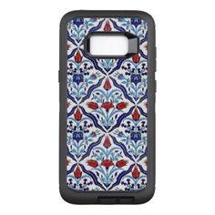 Iznik Tiles OtterBox Defender Samsung Galaxy S8 Case - floral gifts flower flowers gift ideas