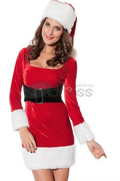 Christmas clothing ( long-sleeved red handbag hip piece )