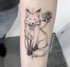 Omg adorable fox and rose tattoo # delightful # fox …. - tattoo tatuagem - Omg adorable fox and rose tattoo # delightful # fox …. – tattoo tatuagem Omg adorable fox and rose tattoo # delightful # fox . Tattoo Drawings, Body Art Tattoos, New Tattoos, Cool Tattoos, Tatoos, Tattoo Art, Tattoos Skull, Tattoo Shop, Trendy Tattoos