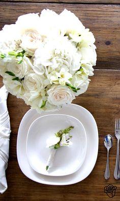 All white tablescape ==