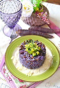 Dolci a go go: Risotto alla carota viola con brunoise di zucchine al rosmarino