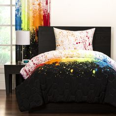 Found it at Wayfair - Crayola Cosmic Burst Comforter Set