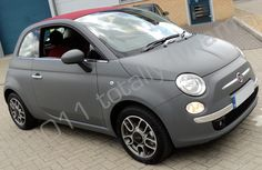 Fiat 500 wrapped matte grey