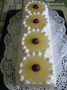 Ananásové rezy (fotorecept) - recept   Varecha.sk Tiramisu, Pineapple, Fruit, Food, Pine Apple, Essen, Meals, Tiramisu Cake, Yemek