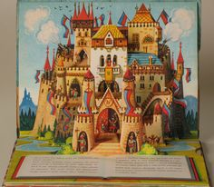 Vojtěch Kubašta illustration from his 'Sleeping Beauty' pop-up book Up Book, Book Art, 90s Pop Culture, Pop Up Art, Toy Theatre, Paper Pop, Paper Engineering, Retro Illustration, Illustrators
