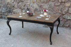 Paris Spisebord 180/280 cm med ileggsplater (Drivved+Sort). Fra Classic Living https://classic-living.no/collections/bord/products/paris-spisebord-sort