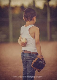 Vintage Themed Styled Family Baseball Session