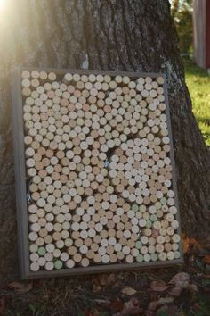 "Recycled Wine Bottle Ideas | There have been many tutorials to make a""Wine Cork Board"" but this one ..."