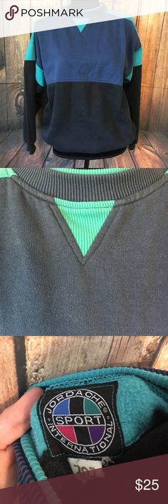 Vintage jordache color block sweatshirt medium Vintage sweatshirt 80s/90s 23 arm to arm and 25 shoulder to hem. No size listed so listing as a medium. Please check measurements before purchase. Has pilling. Vintage condition. Reduce reuse recycle ♻️ Vintage Tops Sweatshirts & Hoodies
