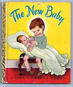 Vintage Golden Book: The New Baby