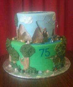Hunter & Fly Fishing cake