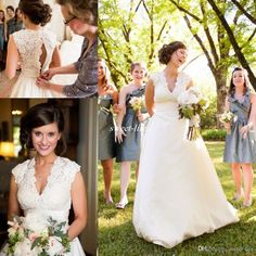 Spring 2016 Plus Size Wedding Dresses Sexy V Neck Sleeveless Chapel Train Satin Vintage Lace Bridal Gowns for Western Country Garden Wedding Online with $127.72/Piece on Sweet-life's Store | DHgate.com