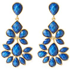 Nello Earring ($100) ❤ liked on Polyvore featuring jewelry, earrings, accessories, blue, orecchini, women, blue earrings, amrita singh jewellery, earrings jewelry and amrita singh