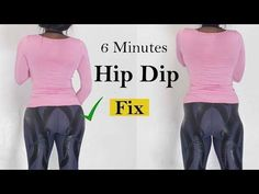 6 Minutes WIDER HIPS Workout to fix hip dips| how to fix hip dip At home - YouTube