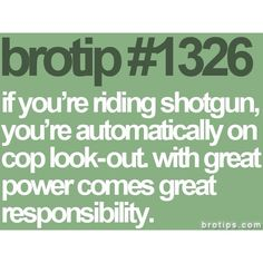Bro Tips - finally someone pines this!
