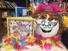 Fancy Nancy Character Pumpkins, Pumpkin Contest, Fancy Nancy, Story Characters, Birthday Cake, Projects, Log Projects, Blue Prints, Birthday Cakes