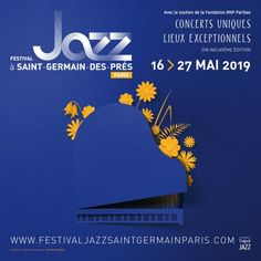 Created in 2001 and located in the mythical district of Saint-Germain-des-Prés, cradle of jazz in Europe, the Jazz Festival in Saint-Germain-des-Prés Paris has been offering unique concerts for 19 years in exceptional locations. Festival Jazz, Montreux Jazz Festival, Saint Germain, Jazz Poster, The Rite, Music Posters, Concert, Letters, Logos