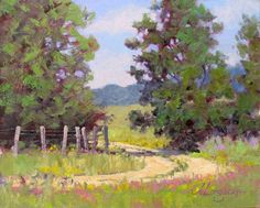 landscape impressionist art paintings | ... landscape oil painting by Texas modern impressionist Jimmy Longacre