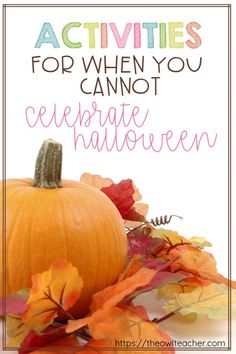 If you can't celebrate Halloween in your classroom, check out these ideas to engage your students during this autumn season and still educate them. Teaching Tips, Teaching Social Studies, Teaching Reading, Teaching Math, Autumn Activities, Fun Activities, Force And Motion, Kids Dress Up, Craft Stick Crafts