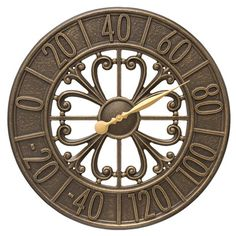 "Whitehall Products Villanova 21"" Indoor/Outdoor Wall Thermometer Color:"