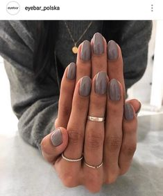 Nails dark grey nail polish gel manicure ideas for women Manicure Colors, Fall Nail Colors, Nail Manicure, Manicure Ideas, Dark Colors, Manicures, Fall Nail Ideas Gel, Nail Ring, Spring Colors