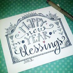 Happy New Year Blessings printable. 2013 Karla Dornacher made this printable coloring page.FREE just for us special gals! Chalkboard Designs, Chalkboard Art, Coloring Book Pages, Printable Coloring Pages, Bible Journaling For Beginners, Whimsical Fonts, Fonts Quotes, Cute Fonts, Little Doodles