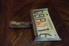 Wooden handled dust pan