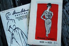Anne Adams 4626 1960s 60s Shawl Collar Wiggle Dress Vintage Sewing Pattern  Size 12 Bust 32