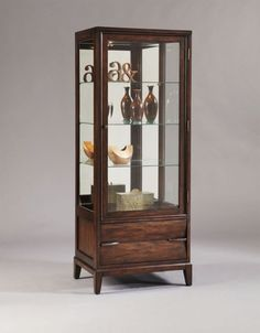 Pulaski Furniture Walnut Door Curio