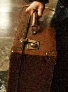 Close-up of suitcase.