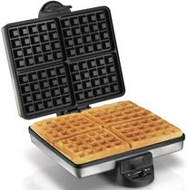 Buy this Proctor Silex 4-Piece Belgian Waffle Maker 26016A with deep discounted price online today for mess free quality Belgian waffles.