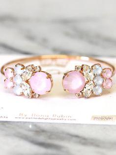 Bracciale di quarzo rosa light rosa braccialetto di iloniti