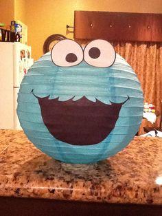 Cookie Monster Inspired Birthday Paper Lantern