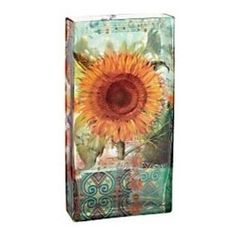 Sunflower Rectangular Glass Vase - Like a painting sitting on your countertop, this vessel is great for storing all your wooden spoons.