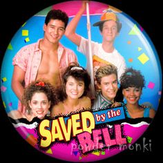 Retro Kids TV Badge/Magnet - Saved by the Bell 2 ~ www.powdermonki.co.uk ~
