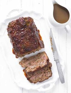 Meatloaf with gravy  The 3 types of meat used in The Hairy Bikers' succulent recipe release lots of juice - perfect for turning into a simple serving gravy.