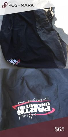 Parts Unlimited Ultra-1 Bike Cover Pre owned motorcycle cover in size medium with a small rip.  Fits sport & stock motorcycles with mirrors, heavy polyester fabric, sewn in cents to minimize condensation. Overall good condition-may need a little cleaning due to sitting in storage. Accessories