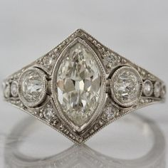 Detailed 1920s Vintage Engagement Ring | Victor Barbone              – Victor Barbone Jewelry