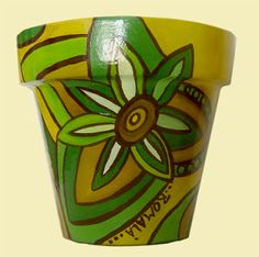 ROMALA: Macetas Pintadas Painted Clay Pots, Painted Flower Pots, Clay Pot People, Pottery Pots, Wine Painting, Pot Plante, Clay Pot Crafts, Pottery Designs, Pottery Painting