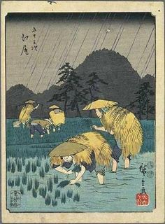 Ejiri by Utagawa Hiroshige from The 53 Stations of the Tokaido Road (Muraichi edition, aka the Jimbutsu edition) -- 1852
