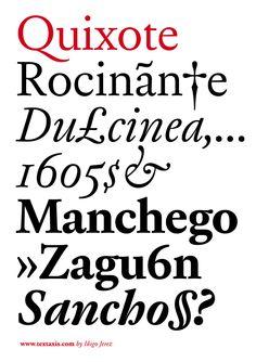 Quixote Typeface de Iñigo Jérez.