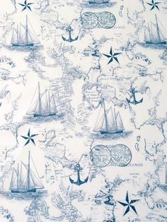 While this print is stylistically different than our normal collection, we are offering this print for sale because of the trendy cuteness that it brought to a baby boys crib set. We love the vintage nautical theme with dark navy details on white-to-off-white apparel cotton. This is a complex print but we love its eclectic feel. Available by the square, fat quarter, half yard or yard. This fabric is 100% cotton, light-to-medium weight and perfect for apparel and home design applications…