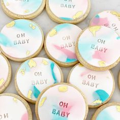 """Mickey on Instagram: """"Baby Shower Cookies 🍪"""" Baby Shower Cookies, Birthday Cake, Cakes, Desserts, Instagram, Food, Tailgate Desserts, Scan Bran Cake, Birthday Cakes"""