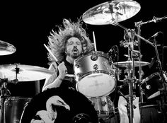 Dave Grohl beating those drums as only he can