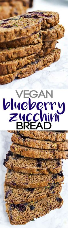 Enjoy this whole-grain Vegan Blueberry Zucchini Bread for a nutritious breakfast or dessert! It's packed with zucchini, blueberries & wholesome ingredients. Plus, six other vegan recipes using delicious blueberries that you'll love.